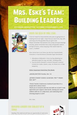 Mrs. Eske's Team: Building Leaders