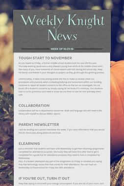 Weekly Knight News