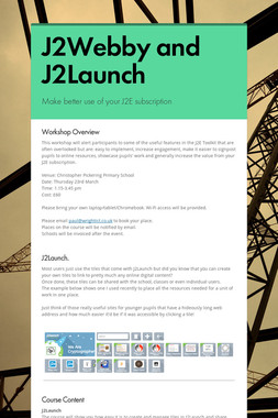 J2Webby and J2Launch