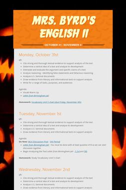 Mrs. Byrd's English II