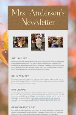 Mrs. Anderson's Newsletter