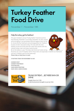 Turkey Feather Food Drive