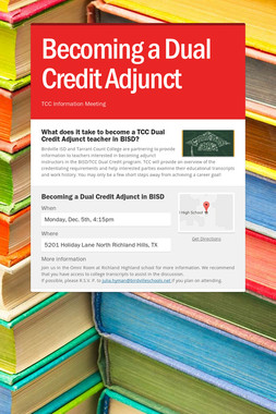 Becoming a Dual Credit Adjunct