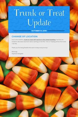 Trunk or Treat Update