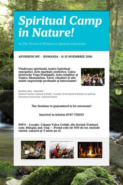 Spiritual Camp in Nature!