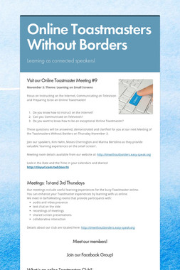 Online Toastmasters Without Borders
