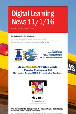 Digital Learning News 11/1/16