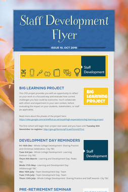 Staff Development Flyer