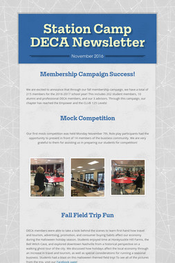 Station Camp DECA Newsletter