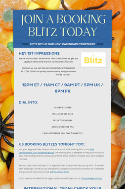 JOIN A BOOKING BLITZ TODAY