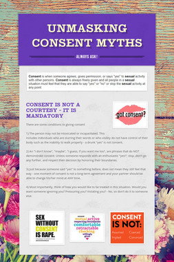 Unmasking Consent Myths