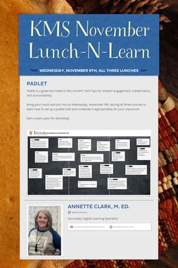 KMS November Lunch-N-Learn