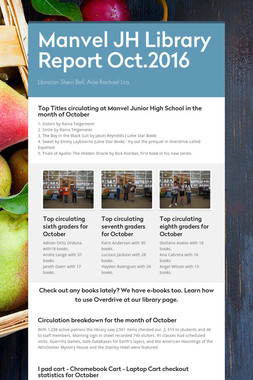 Manvel JH Library Report  Oct.2016