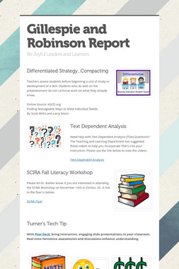 Gillespie and Robinson Report