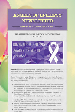 Angels Of Epilepsy Newsletter
