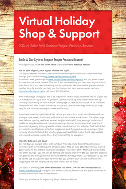 Virtual Holiday Shop & Support