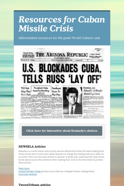 Resources for Cuban Missile Crisis