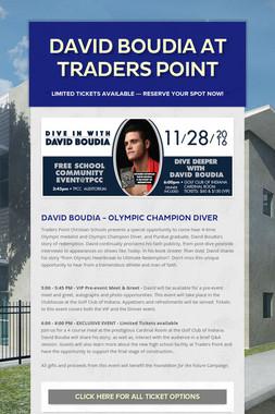 DAVID BOUDIA at Traders Point