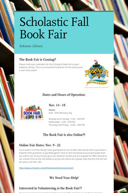 Scholastic Fall Book Fair