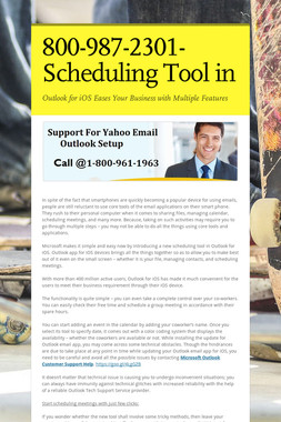 800-987-2301-Scheduling Tool in