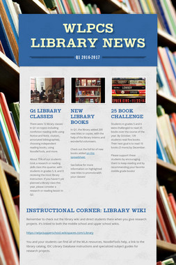 WLPCS Library News