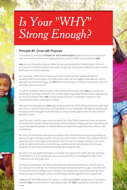 """Is Your """"WHY"""" Strong Enough?"""