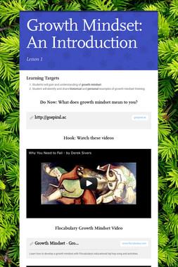 Growth Mindset: An Introduction