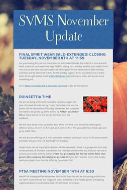 SVMS November Update