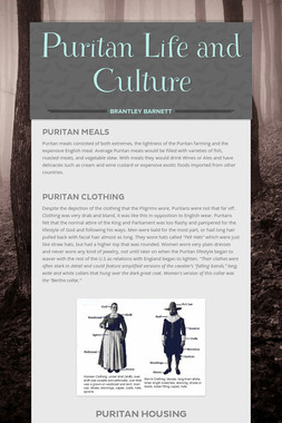 Puritan Life and Culture