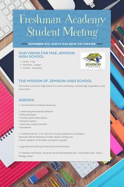 Freshman Academy Student Meeting