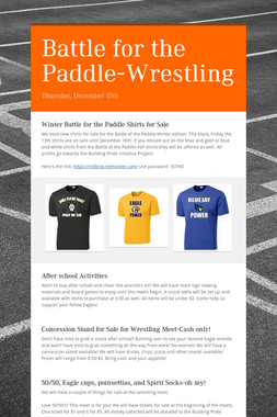 Battle for the Paddle-Wrestling