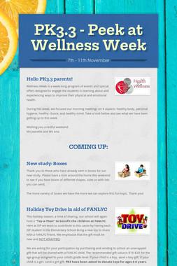 PK3.3 - Peek at Wellness Week