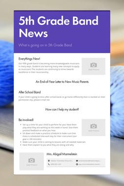 5th Grade Band News