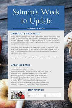 Salmon's Week 10 Update