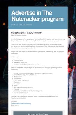 Advertise in The Nutcracker program