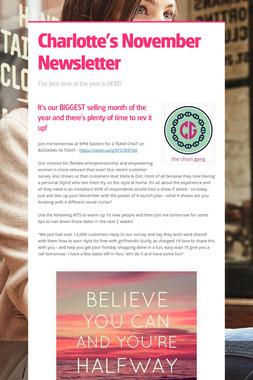 Charlotte's November Newsletter