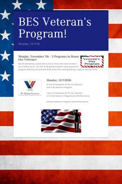 BES Veteran's Program!