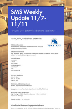 SMS Weekly Update 11/7-11/11