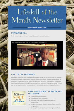 Lifeskill of the Month Newsletter