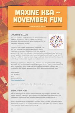 Maxine H&A ~ November Fun