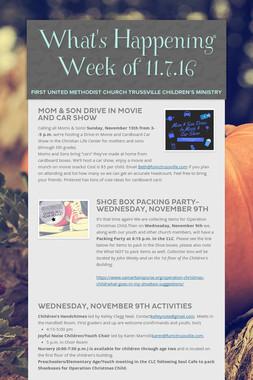 What's Happening  Week of 11.7.16