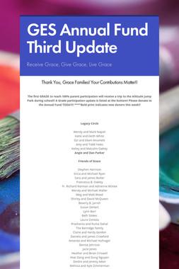 GES Annual Fund Third Update
