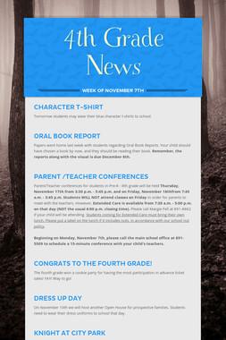 4th Grade News