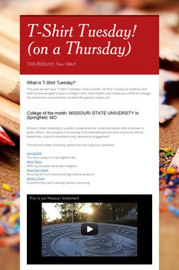 T-Shirt Tuesday! (on a Thursday)