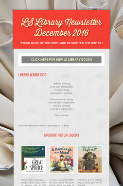 LS Library Newsletter December 2016