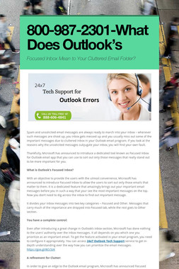 800-987-2301-What Does Outlook's