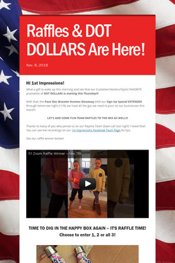 Raffles & DOT DOLLARS Are Here!