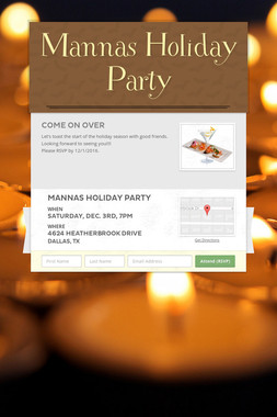 Mannas Holiday Party