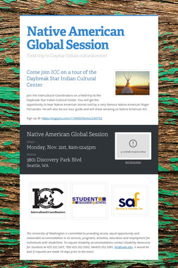Native American Global Session