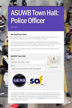 ASUWB Town Hall: Police Officer